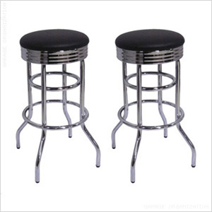 Chrome Swivel Barstool (2-Pack)