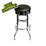 Trinity Chrome Swivel Barstool (Assembled)