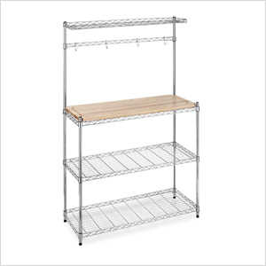 Chrome-Plated Bamboo Rack