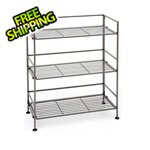 Seville Classics 3-Tier Rectangle Iron Folding Shelf