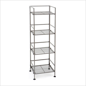 4-Tier Square Iron Folding Shelf