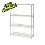 Seville Classics 48-Inch 4-Shelf Shelving System