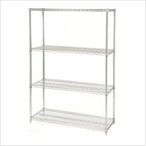48-Inch 4-Shelf Shelving System