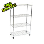 Seville Classics 4-Shelf Steel Wire Shelving