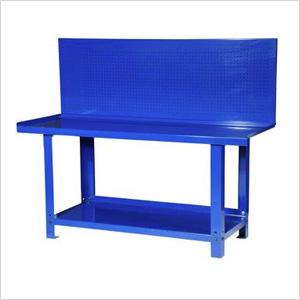 72-Inch Heavy Duty Steel Workbench with Pegboard