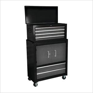26-Inch 6-Drawer 2-Door Roller Tool Cabinet Combo