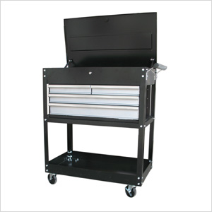 33-Inch 4-Drawer Industrial Cart