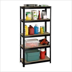 36-Inch 5-Shelf Slotted Boltless Shelving System