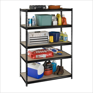 48-Inch 5-Shelf Rivet Boltless Shelving System