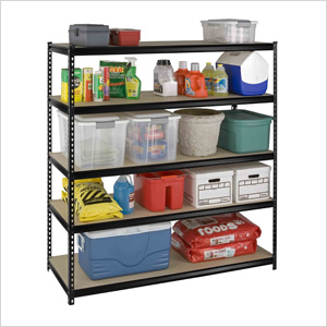 66-Inch 5-Shelf Rivet Boltless Shelving System