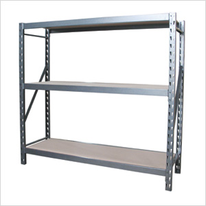 72-Inch 3-Shelf Bolted Shelving System