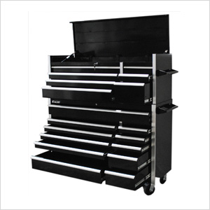 56-Inch 19-Drawer Tool Chest and Cabinet Combo
