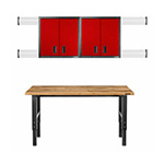 Gladiator GarageWorks 8-Piece Red Premier Garage Cabinet Set