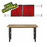Gladiator GarageWorks Premier 8-Piece Red Garage Cabinet Set