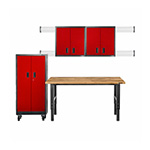 Gladiator GarageWorks 9-Piece Red Premier Garage Cabinet Set