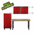 Gladiator GarageWorks Premier 9-Piece Red Garage Cabinet Set
