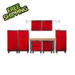 Gladiator GarageWorks Premier 13-Piece Red Garage Cabinet Set
