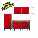 Gladiator GarageWorks Premier 11-Piece Red Garage Cabinet Set