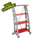 Pitstop Furniture Chicane Bookshelf (Red)