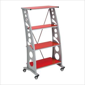 Chicane Bookshelf (Red)