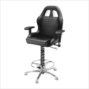 Crew Chief Bar Chair (Black)