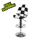 Pitstop Furniture Pit Crew Bar Chair (Checkered)