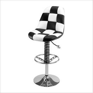 Pit Crew Bar Chair (Checkered)