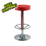 Pitstop Furniture Crew Bar Stool (Red)