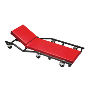 40-Inch Fully Padded Creeper with Adjustable Headrest