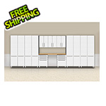 "Ulti-MATE Cabinets 10-Piece ""Exclusive"" Garage Cabinet Kit with Bamboo Worktop"