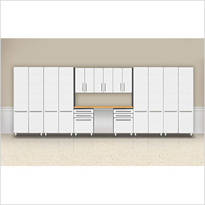 """10-Piece """"Exclusive"""" Garage Cabinet Kit with Bamboo Worktop"""