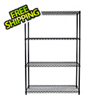 Trinity NSF 4-Tier Black Wire Shelving Rack