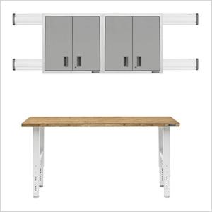 8-Piece White Garage Cabinet Set