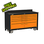 Swivel Storage Solutions 12-Drawer 60-Inch Rolling Workbench