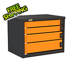 Swivel Storage Solutions 4-Drawer 24-Inch Service Tool Box