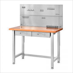 UltraHD Stainless Steel Pegboard Workcenter