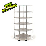Seville Classics 6-Tier Corner Wire Shelving System