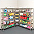 6-Tier Corner Wire Shelving System