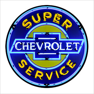 Chevy Service 36-Inch Neon Sign
