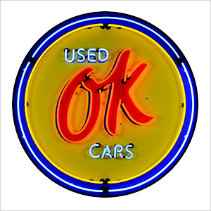 OK Used Cars 36-Inch Neon Sign