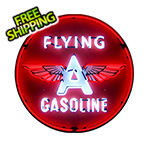 Neonetics Flying A Gasoline 36-Inch Neon Sign