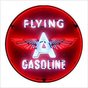 Flying A Gasoline 36-Inch Neon Sign