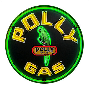 Polly Gasoline 36-Inch Neon Sign