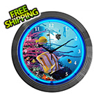 Neonetics 15-Inch Aquarium Neon Clock