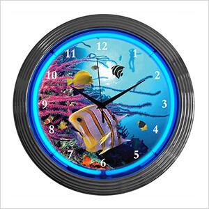 15-Inch Aquarium Neon Clock