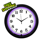 Neonetics 15-Inch Standard Purple Neon Clock