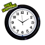 Neonetics 15-Inch Standard White Neon Clock