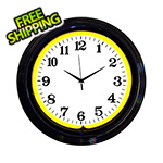 Neonetics 15-Inch Standard Yellow Neon Clock