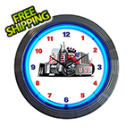 Neonetics 15-Inch Big Rig Neon Clock