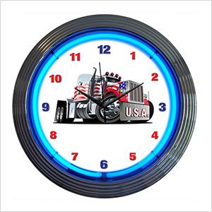 15-Inch Big Rig Neon Clock